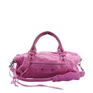 Balenciaga Twiggy First Agneau Satchel (143397)